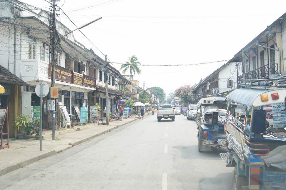 루앙프라방 시내거리